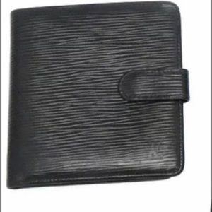 Authentic black Louis Vuitton  Bifold wallet